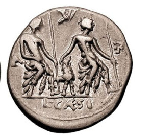 Though to be early rendering of a poodle on Roman coin (c.112BC)